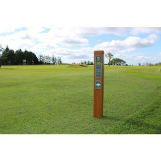 Tee information post sign