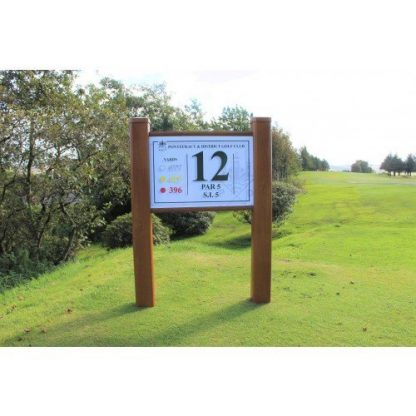 Golf Course Tee Information Sign